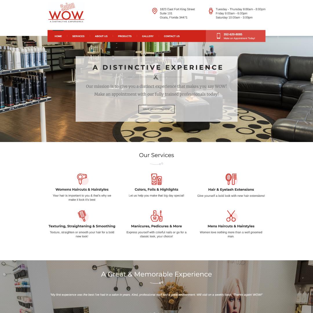Salon WOW Ocala, Florida Website Design